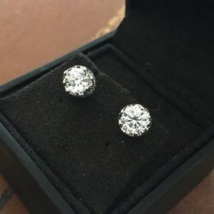 Jewelry - Platinum plated sterling silver cubic zirconia